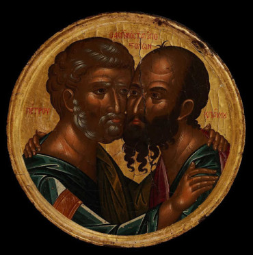 Icon of Peter and Paul from Patmos