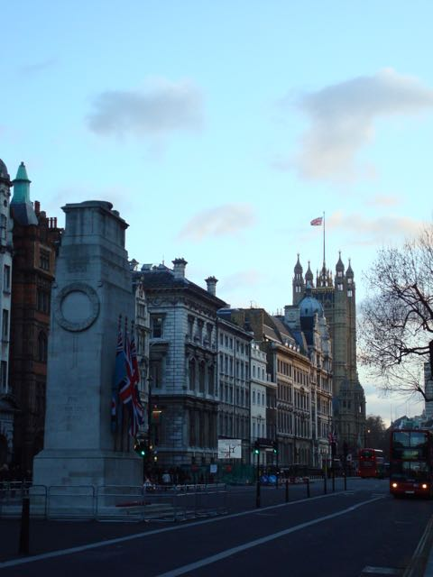 The Cenotaph, with Big Ben in the background